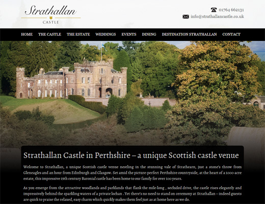 Strathallan Castle Homepage